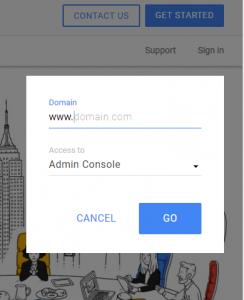 Login Admin Console