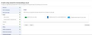 Setup Email Dashboard